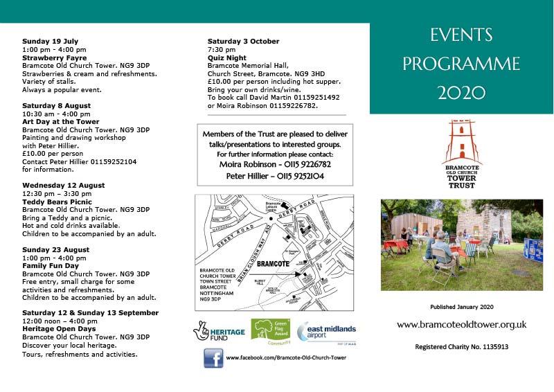 Events Leaflet 2020